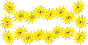 Bright yellow spring flowers lei Royalty Free Stock Photo