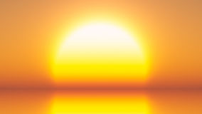 Bright Yellow Sun Royalty Free Stock Photography