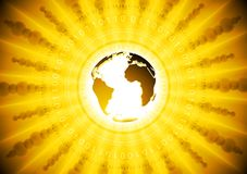 Bright yellow tech background Royalty Free Stock Photography
