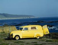 Bright yellow truck Stock Photos