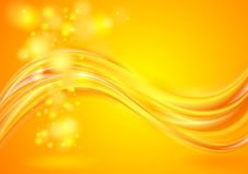 Bright yellow wavy background Stock Images