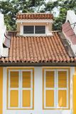 Small house shutters Royalty Free Stock Photos