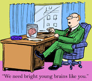 Bright young brains. We need bright young brains like you Stock Image