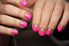 Bright, youthful manicure design Royalty Free Stock Image