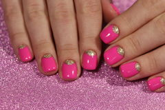 Bright, youthful manicure design stock images