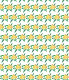 Bright yummy ripe juicy lovely yellow summer autumn dessert slices of oranges and mandarins pattern. Vector illustration Stock Photo