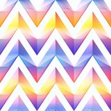 Bright zigzag seamless pattern. Eps 10 vector file Stock Photography