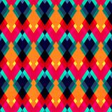Bright zigzag seamless pattern Stock Images
