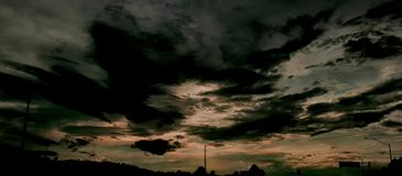 Brighten the darkness. Sky, clouds, original, edit royalty free stock photo
