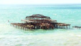 Brighten pier. West Pier at Brighton England stock photos