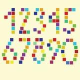 Brightful fyrkantiga nummer för vektor Arkivbild