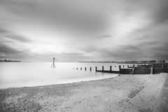 Brightlinsea black and white sea lansdscape shot Stock Photos