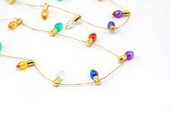 brightly bulbs colored strand tiny στοκ φωτογραφία με δικαίωμα ελεύθερης χρήσης