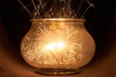 Brightly burning sparklers Royalty Free Stock Image