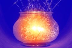 Brightly burning sparklers Royalty Free Stock Photo