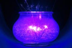 Brightly burning sparklers Royalty Free Stock Photos