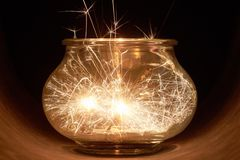 Brightly burning sparklers Stock Images