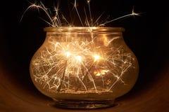 Brightly burning sparklers Stock Image