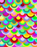brightly circle coloured pattern 图库摄影