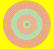 Brightly circle on yellow Stock Image