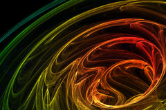 Brightly colored abstract background. On black Stock Photos