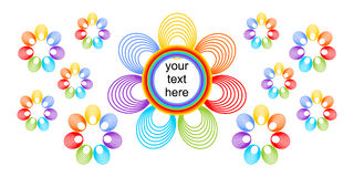 Brightly colored background with rainbow flowers Stock Photography