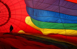 Brightly colored balloon silks Stock Photo