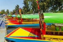 Boats in Xochimilco Stock Photos