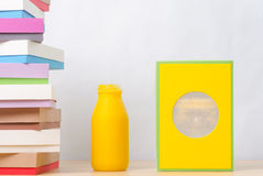 Brightly colored boxes Stock Photos