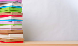 Brightly colored boxes for gifts Stock Photography