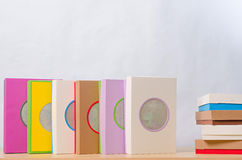 Brightly colored boxes for gifts Stock Images
