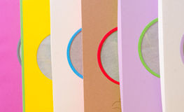 Brightly colored boxes for gifts Royalty Free Stock Photo