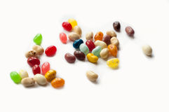 Brightly colored candy beans. Colourful jelly bean. Royalty Free Stock Photography