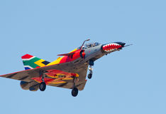 Brightly colored Cheetah aircraft Royalty Free Stock Photography
