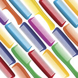 Brightly colored combs on white Royalty Free Stock Images