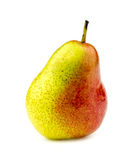 Brightly colored corella pear isolated on white Royalty Free Stock Image