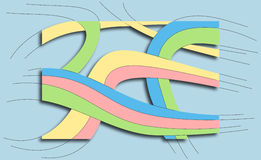 Brightly colored 3D lines Stock Images