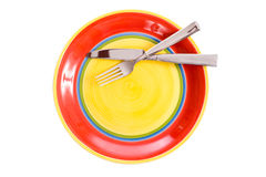 Brightly Colored Dinnerware Royalty Free Stock Photos