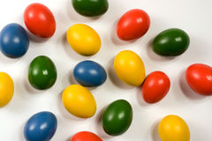 Brightly colored eggs Royalty Free Stock Image