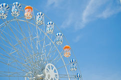 Brightly colored Ferris wheel Stock Image