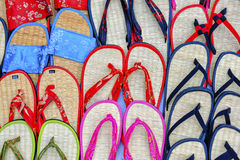Brightly colored flip-flops Royalty Free Stock Photos