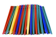 Brightly Colored Folders Stacked Stock Photo