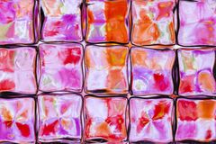 Brightly colored glass block wall royalty free illustration