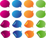Brightly colored glossy web elements for adding yo Royalty Free Stock Image