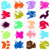 Brightly colored graffiti stains Set. Quality illustration for your design royalty free illustration
