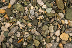 Brightly colored green stones at Illia beach, Evia, Greece Stock Photography