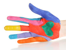 Brightly colored hand Royalty Free Stock Images