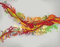 Brightly colored hand drawn floral background Royalty Free Stock Photo