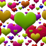 Brightly Colored Hearts Stock Photography