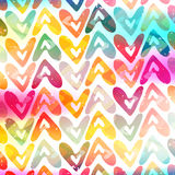 Brightly colored hearts on a white background grunge texture Royalty Free Stock Image